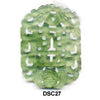 Green Soo Chow Jade Double Happiness Pendant Bead DSC27