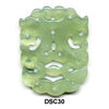Green Soo Chow Jade Double Dragon Pendant Bead