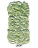 Green Soo Chow Jade Rectangle Eternal Knot Pendant Bead DSC51