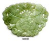 Large Butterfly Lock Soo Chow Jade Pendant Bead - 2 Colors