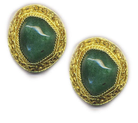 Nugget Vermeil Clip On Earrings