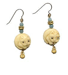 Cat Bone Amazonite Earrings