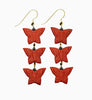 Cinnabar Multi Butterfly Onyx Hook Earrings