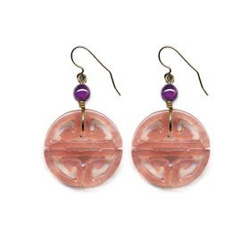 Longevity Rose Quartz Coin Earrings