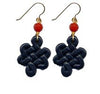 Black Eternal Knot Onyx Earrings