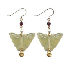 Jade Butterfly Earrings