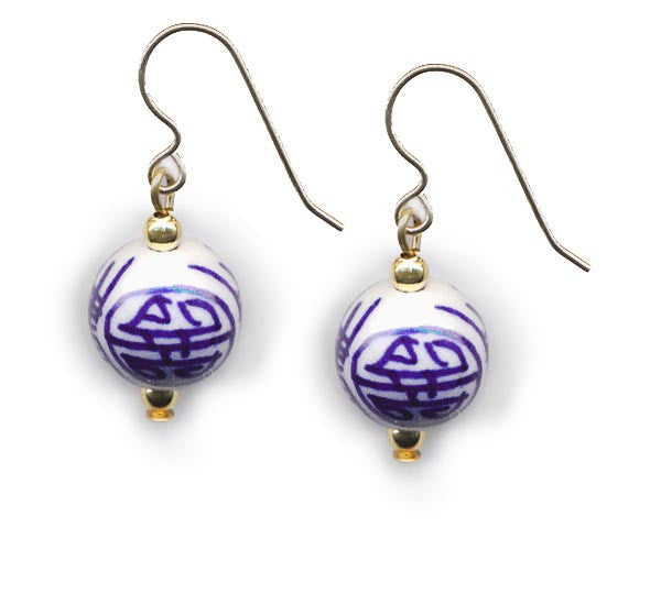 Porcelain Longevity Earrings