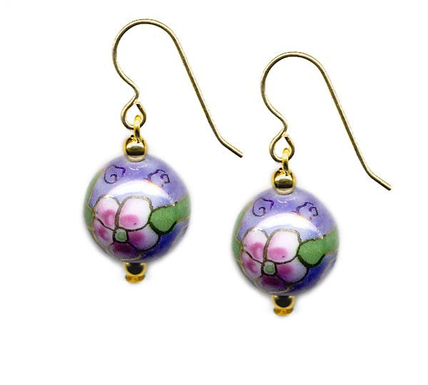 Porcelain Floral Bead Earrings