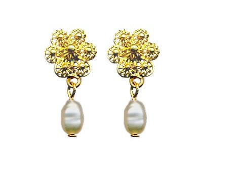 Vermeil Filigree Flower Earring
