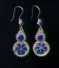 Afghan Silver Double Drop Earrings