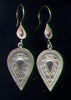 Afghan Silver Leaf Earrings with Carnelian ESA16CN