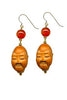 Buddha Head Bead Earrings