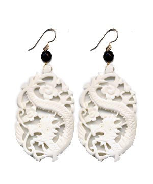 Large Dragon Bone Earrings