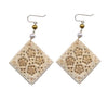 Diamond Moghal Bone Pearl Earrings