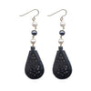 Ebony Tear Drop Moghal Pearl Earrings