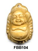 Sitting Buddha Bone Bead FBB104