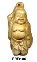 Carved HoTai Buddha Bone Bead FBB106