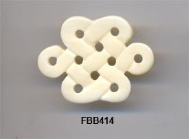 Eternal Knot Bone Pendant Bead