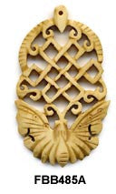 Butterfly and Knot Bone Pendant Bead FBB485