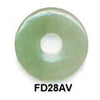Pi Disc 28mm Green Aventurine