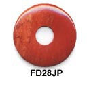 Pi Disc 28mm Red Jasper