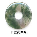 Pi Disc 28mm Moss Agate