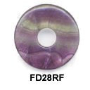 Pi Disc 28mm Rainbow Flourite