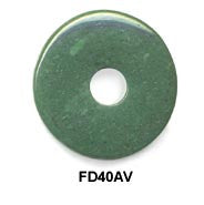 Pi Disc 40mm Green Aventurine