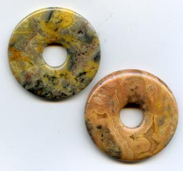 Pi Disc 40mm Dark Crazy Lace Agate