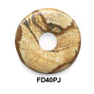 Pi Disc 40mm Picture Jasper