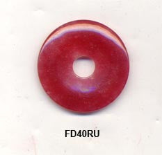 Pi Disc 40mm Rubellite