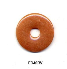 Pi Disc 40mm Red Aventurine