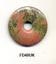 Pi Disc 40mm Unakite