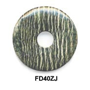 Pi Disc 40mm Zebra Jasper