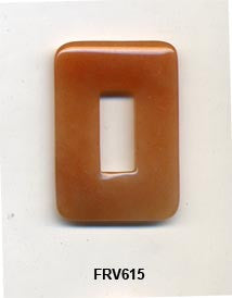 Red Aventurine Rectangular Pendant Bead FRV615