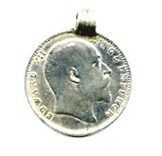 King Edward VII Silver Coin Pendant FST961