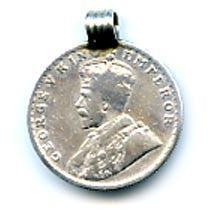 King George V Silver Coin Pendant FST963