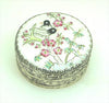 Small Birds Porcelain Top Silver Box