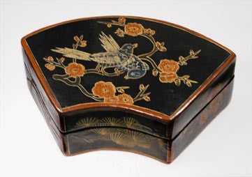 Bird Lacquer Fan Box