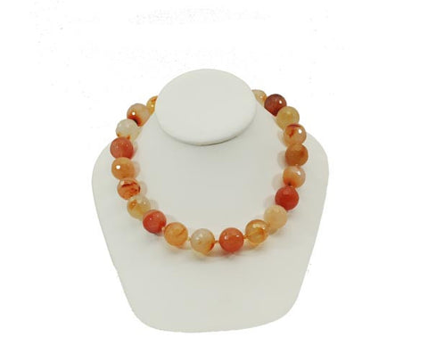 Multi Colored Carnelian Necklace