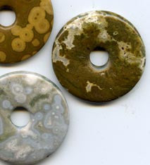 Pi Disc 40mm Ocean Jasper