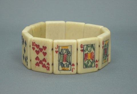 Playing Cards Bone Bracelet