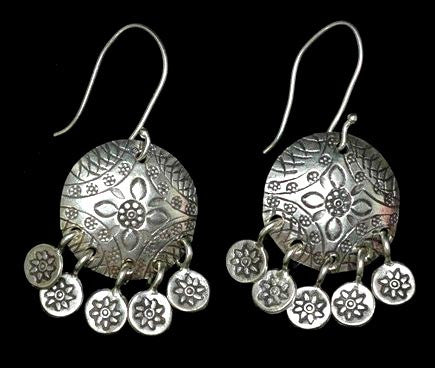 Thai Hill Tribe Silver Earrings #7