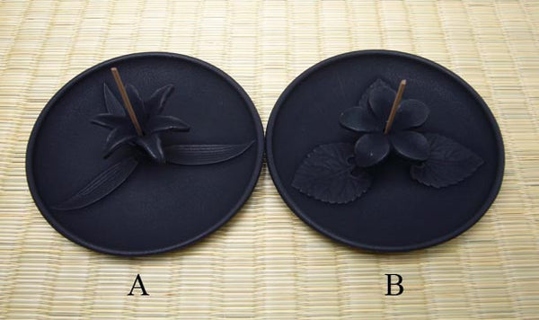 Black Flower Incense Holders