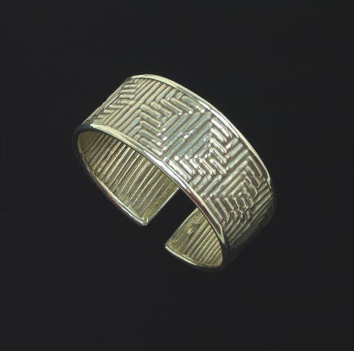 "Copy of 1"" Thai Hill Tribe Silver Bracelet #1"