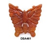 Brown Jade Small Butterfly Pendant Bead DSA461