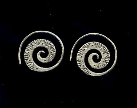 Thai Hill Tribe Silver Earrings #24