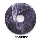 Pi Disc 40mm Frosted Sodalite