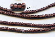 Vintage Plum and Black Striped Small Ghana Glass Beads BA-A43KP