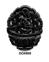 Flower Basket Black Onyx Pendant Bead DOX809